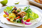 Grilled chicken Tortilla — Stock Photo