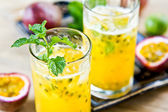 Passion fruit with Lychee Mojito — Stok fotoğraf