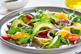 Avocado with Orange and Beetroot salad — Stok fotoğraf