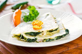 Spinach and cheese Quesdilla — Stock Photo