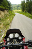 Biker's point of view — Stock Photo