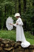 The lady under an umbrella — Stock Photo