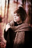La signora con un velo — Foto Stock