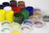 Colorful gouache paints — Stock Photo
