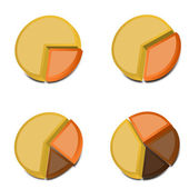 3D Pie Charts 2 — Stock Vector