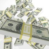 Falling Money — Stock Photo