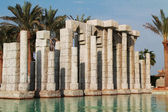 The ancient columns in the water — Stock Photo