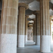 Columns in Antonio Gaudi Parc Guell — Stock Photo