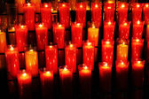 Candles on church — Stock Photo