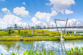 Kelong bridge, punggol vattenvägar, singapore — Stockfoto
