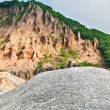Stock Photo: Seismically active valley in Hokkaido, Japan