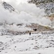 Sulphur fumes and volcanic activity, Hokkaido — Stock Photo