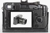 Pohled na lcd ošoupaný, retro styl digitální fotoaparát — Stock fotografie