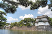 Japanese building overlooking lake — Stock Photo