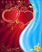 Postcard heart, holiday — Stock Vector