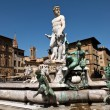 The Fountain of Neptune in Florence, Italy - Stock Photo