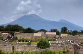 The ruins of the ancient Roman town-city of Pompeii — Stock Photo