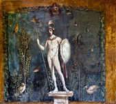 Ancient roman painting on the wall of a Pompeii house — Stock Photo