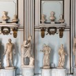 Ancient Roman marble busts and statues — Stock Photo
