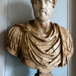 Bust of an ancient Roman emperor Antoninus Pius — Stock Photo