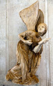 Ancient Roman statue of a winged goddess — Stock Photo