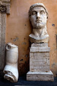 Colossus of Constantine was a colossal acrolithic statue of the late Roman emperor Constantine the Great — Stock Photo