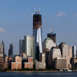 Stock Photo: Liberty tower and downtown Manhattan