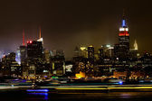 Midtown Manhattan at night — Stock Photo