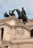 National Monument to Victor Emmanuel II in Rome, Italy — Stock Photo