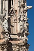 Gothic cathedral decorations — Stock Photo