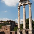 Stock Photo: Corinthicolumns of theTemple of Castor and Pollux