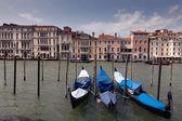 Venetian gondolas — Stock Photo
