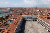 Aerial view of the San Marco square — Stock Photo