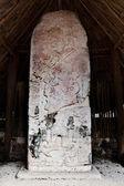 Carved Mayan stelae — Stock Photo