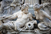 Statues in the Athena Fountain — Stock Photo