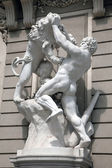 Hercules fighting the Nemean Lion — Stock Photo