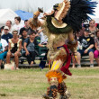 Aztec dancer at the Pow Wow festival — Stock Photo
