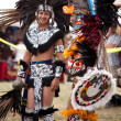 Stock Photo: Aztec dancers at Pow Wow festival