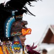 Aztec dancer at the Pow Wow festival - Stock Photo