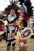 Aztec dancers at the Pow Wow festival — Stock Photo