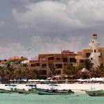 Playa del Carmen beach in Mexico — Stock Photo