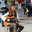 Street guitarist in Vienna — Stock Photo