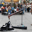Street musiciin Vienna — Stock Photo #13716134