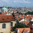 The terracotta rooftops of Prague — Stock Photo