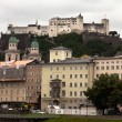 View of Salzburg and the Hohensalzburg Castle in Austria — Stock Photo