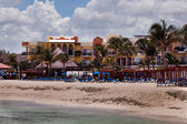 Playa del carmen beach i mexiko — Stockfoto