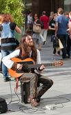 Viyana sokak gitaristi — Stok fotoğraf