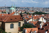 The terracotta rooftops of Prague — Стоковое фото