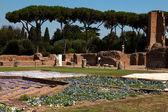 Antigas ruínas romanas na colina palatina em Roma — Fotografia Stock