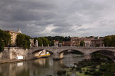 Ponte Vittorio Emanuele bridge in Rome — Stock Photo